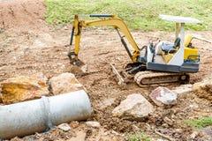 Concrete pipe under construction Stock Image