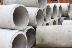 Concrete Pipes Stock Images