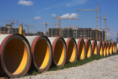 Concrete pipes Royalty Free Stock Images