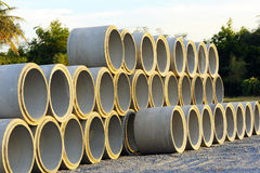 Concrete pipes Royalty Free Stock Photography