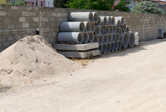 Concrete pipes Stock Photos