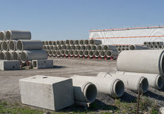Concrete Pipes Royalty Free Stock Image