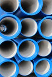 Concrete pipes for transporting water and sewerage Stock Images