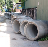 Concrete pipes Stock Photography