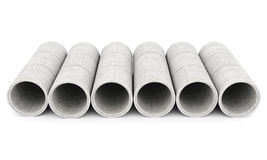 Concrete pipes Royalty Free Stock Photos