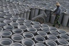 Concrete pipes Stock Photo