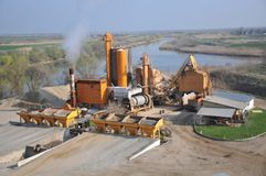Concrete plant. Bird's-eye view Royalty Free Stock Image