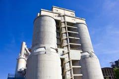 Concrete plant. The Large towers of concrete plant Stock Photo
