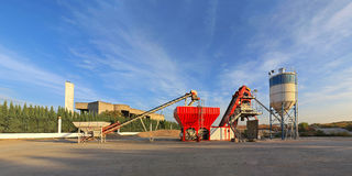 Concrete Plant Royalty Free Stock Photography
