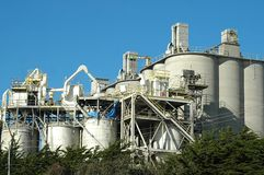 Concrete Plant. Complex of buildings at a concrete plant stock photography