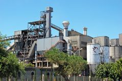 Concrete plant, Carboneras. Royalty Free Stock Photo