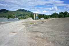 Concrete plant courtyard Royalty Free Stock Photo