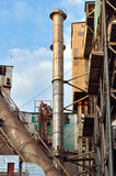 Industrial exhausting chimney Royalty Free Stock Photos