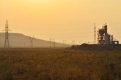 Concrete plant at sunset Stock Photos