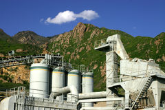Concrete Plant Tanks. Cylindrical tanks and concrete plant in Utah Royalty Free Stock Photography