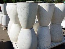Concrete Planter Pots Stock Photo