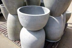 Concrete Planter Pots Stock Image