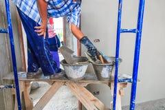 Concrete plasterer Stock Image