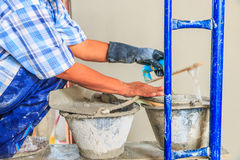 Concrete plasterer Stock Images
