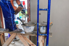 Concrete plasterer Royalty Free Stock Images