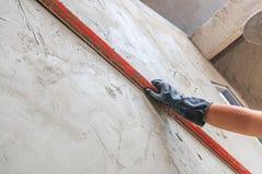Concrete plasterer Royalty Free Stock Images