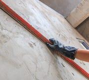 Concrete plasterer Royalty Free Stock Photography