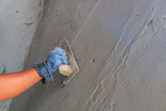 Concrete plasterer Royalty Free Stock Image