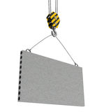 Concrete plate carrying Stock Images