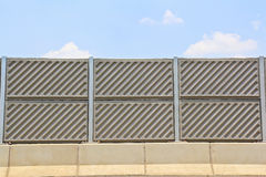 Concrete plate on expressway Royalty Free Stock Image