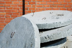 Concrete plates. Stock Photos