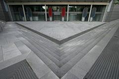 Concrete plaza Stock Images