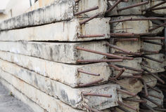 Concrete pole pile Royalty Free Stock Photography