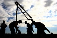 Concrete Pouring Royalty Free Stock Image