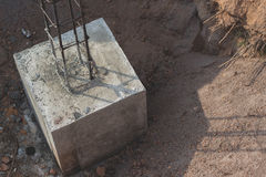 Concrete pouring during commercial concreting floors Royalty Free Stock Photography