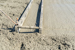 Concrete pouring on the construction site Stock Photography