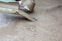 Concrete pouring Stock Images