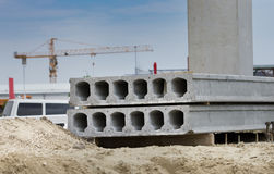 Concrete prefabricated slabs Royalty Free Stock Photos