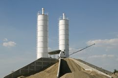 Concrete production Stock Photos