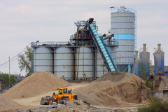 Concrete production Stock Photo