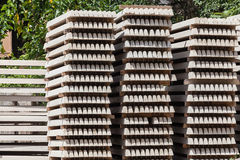 Concrete Products Stacked Royalty Free Stock Image