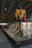 Concrete prodution. Concrete production in the palnt Stock Photo