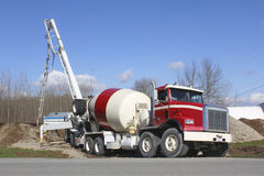 Pumping Concrete Royalty Free Stock Photography
