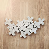 Concrete puzzle pieces Stock Image