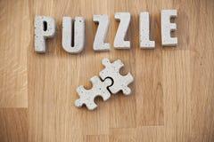 Concrete puzzle pieces Royalty Free Stock Images