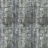 Concrete puzzles wall Stock Image