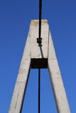 Concrete pylon bridge detail Stock Images