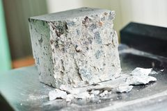 Concrete quality test Stock Photography
