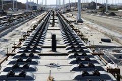 Concrete railroad ties Stock Photos