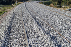 Concrete railway sleepers Royalty Free Stock Images