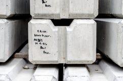 Concrete railway sleepers piled Stock Image